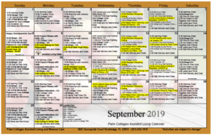 Palm Cottages - Calendar